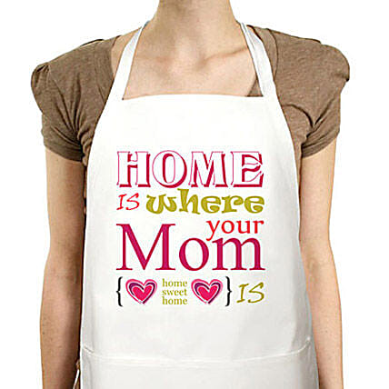 Best Moms Apron-Mother special Cute printed white apron