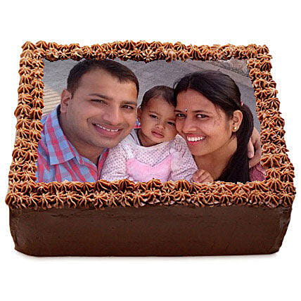 Delicious Chocolate Photo Cake 1kg