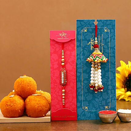 rakhi set with sweet for brother online