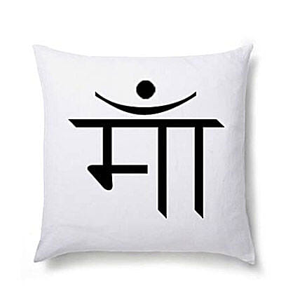 Maa in Hindi Printed Cushion-regional language personalised mother special cushion 12x12 inches