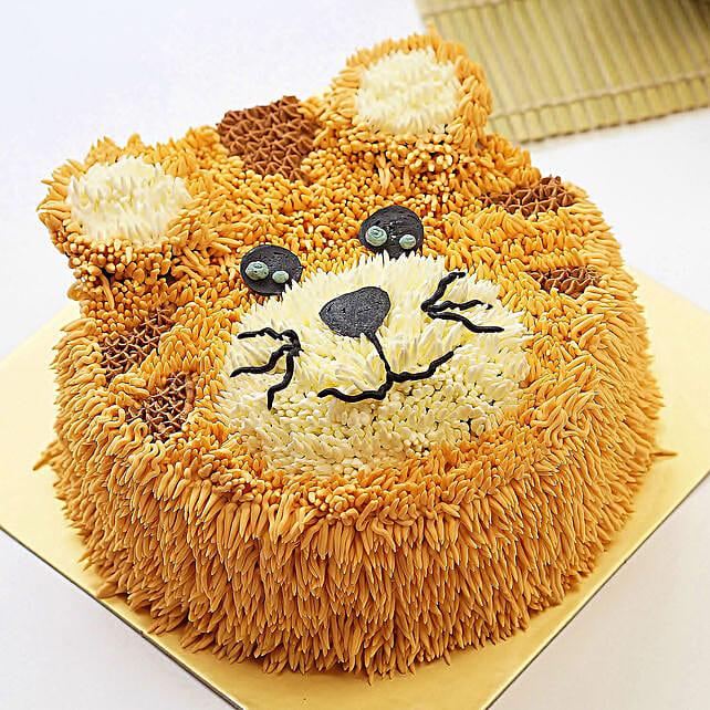 Buy/Send Sweet Tiger Design Cake- Chocolate 1 Kg Online- Ferns N Petals
